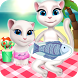 The cat family picnic by taoy qiheng