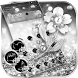 Glitter Silver Theme Wallpaper Diamond Rose by LXFighter-Studio