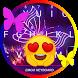 Neon Butterfly Theme&Emoji Keyboard by Keyboard Fantasy