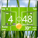 Football Digital Weather Clock by Factory Widgets