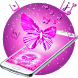 Pink Girl Bow Keyboard Theme by cool wallpaper