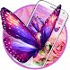 Neon Butterfly Pink Rose Theme by Hot Launcher