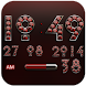 Digi Clock Widget Red Diamond by Maystarwerk Clocks & Themes Vol.2