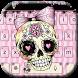 Sugar Skull Keyboard theme by Locker Themes Center