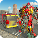 Real Robot Firefighter Truck Transform Robot Game by White Sand - 3D Games Studio