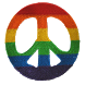 Rainbow Peace Sign Patch by yammonster