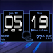 Honeycomb Weather Clock Widget by Factory Widgets