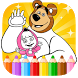 coloring pages for Misha bear by learninglab.inc