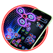 Neon Fidget Spinner Player 2D Theme by android themes & Live wallpapers