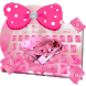 Pink Diamond Bow keyboard by Rainbow Internet Technology