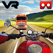 VR Bike real world racing - VR Highway moto racing