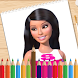 Coloring Barbie Princess Books by Drawing-Coloring Inc.