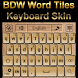 Word Tiles Go Keyboard Skin by Baron Williams