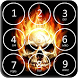 Skull Pin Screen Lock by arrowshapes