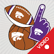 Kansas State Wildcats Animated Selfie Stickers by 2Thumbz, Inc
