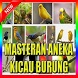 a collection of all birdsong by New Guide Master Ringtone Murattal Bubble Apps