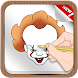 How To Draw Pennywise Adult Drawing Game by GoldenDraw