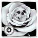 Skull Gothic Rose Black Theme