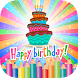 Happy Birthday Coloring Book by DellZee