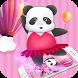 China Pink Panda Dancing Cute Theme by Alice Creative Studio