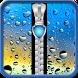 Raindrops Zipper Lock Screen by Energy Zipper Lock Screen