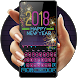 Happy new year 2018 by Bestheme keyboard Creator 2018