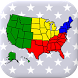 50 US States Map, Capitals & Flags - American Quiz by Andrey Solovyev