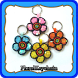Floral Keychain by Lisensedroid
