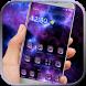 Purple nebula starry theme by Fantastic theme