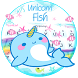 Unicorn Fish Typany Keyboard Theme by Cool Themes and art work