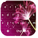 Pink Flower Lotus Keyboard by cool wallpaper