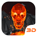 Flaming Skull 3D Theme by Launcher 3D Pro