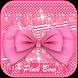 Pink Bowknot Keyboard Theme by Fantasy Keyboard studio
