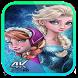 Frozen Wallpaper Anna and Elsa by Zeinhd Design