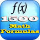 1500 All Math Formulas by Manojkanthan