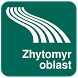 Zhytomyr oblast Map offline by iniCall.com