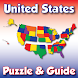 United States Puzzle and Guide by Visual Learning Aids, LLC