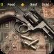 Cowboy revolver guns keyboard theme by Cool Theme Creator