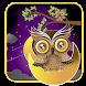 Purple owl cartoon theme by livewallpaperdesigner2017