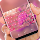 Pink Love flowers Keyboard Theme by Jubee Theme Studio