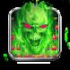 Green Fire Skull