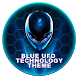Blue UFO technology theme by Big Bing Keyboard theme design
