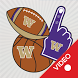 Washington Huskies Selfie Stickers Animated by 2Thumbz, Inc