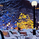 snow night city live wallpaper by ashwin.gamedev
