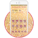 Elegant Gold Glitter 2D Theme by Stylish Android Themes
