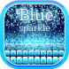 Blue Sparkle Keyboard by Bling Themes