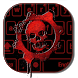 Red Blood Skull Keyboard by live wallpaper collection