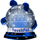 Ice crystals TouchPal Skin by New Themes