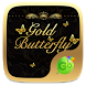 Gold Butterfly Keyboard Theme by Popular Keyboard Theme