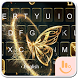 Rebirth Golden Butterfly Keyboard Theme by Fashion Cute Emoji